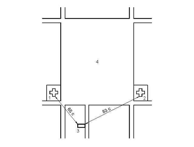 Схема расположения зданий: